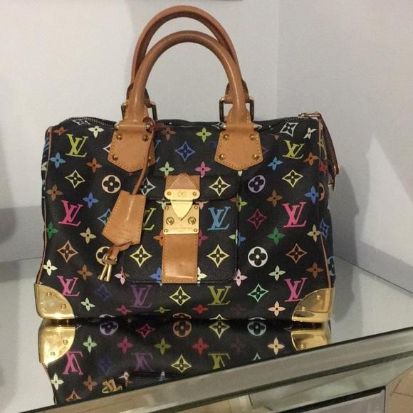 ebac2c9d368f Louis Vuitton Handbags - Louis Vuitton multicolor black Speedy 30 bag.